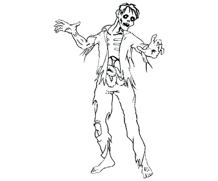 funny zombie coloring pages