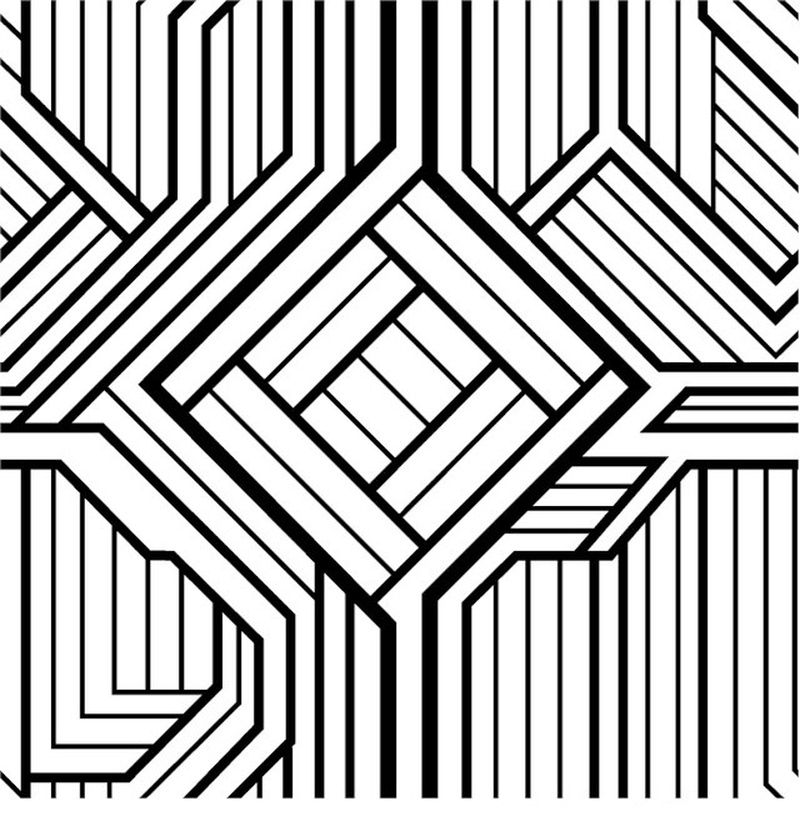 geometric christmas coloring pages
