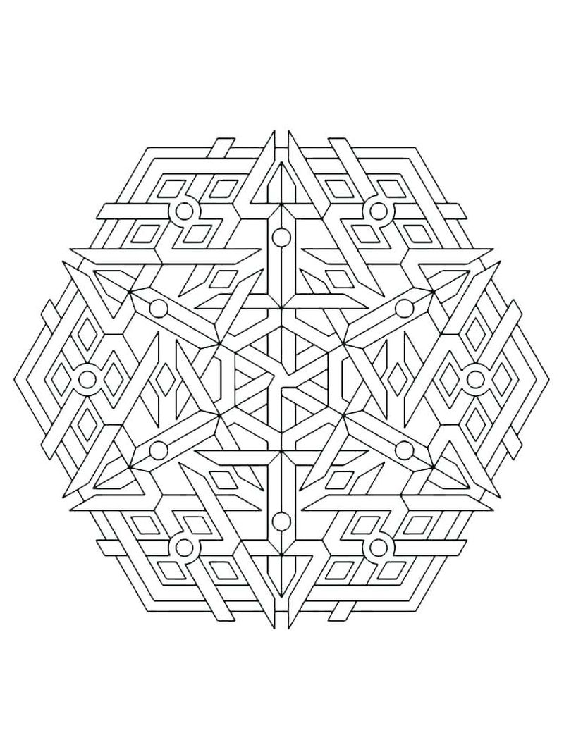geometric coloring pages full page