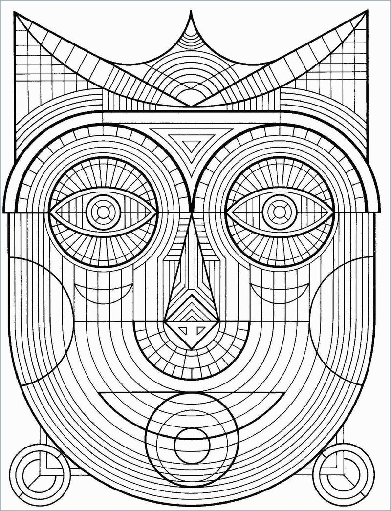 geometric coloring pages images