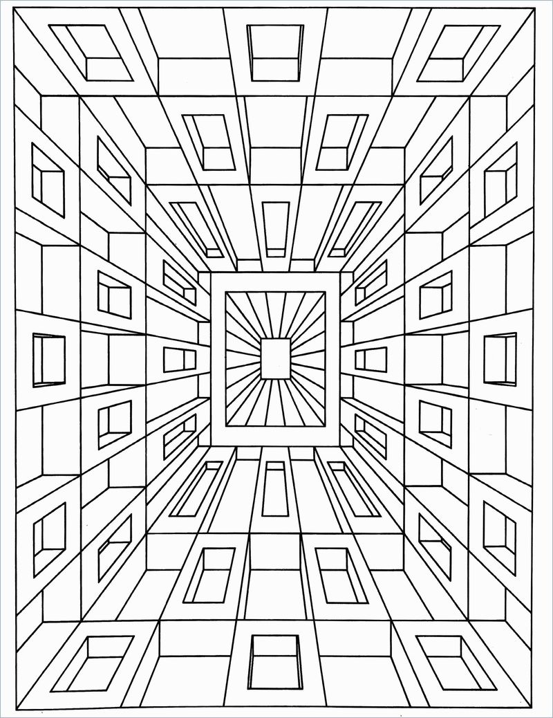 geometric coloring pages preschool