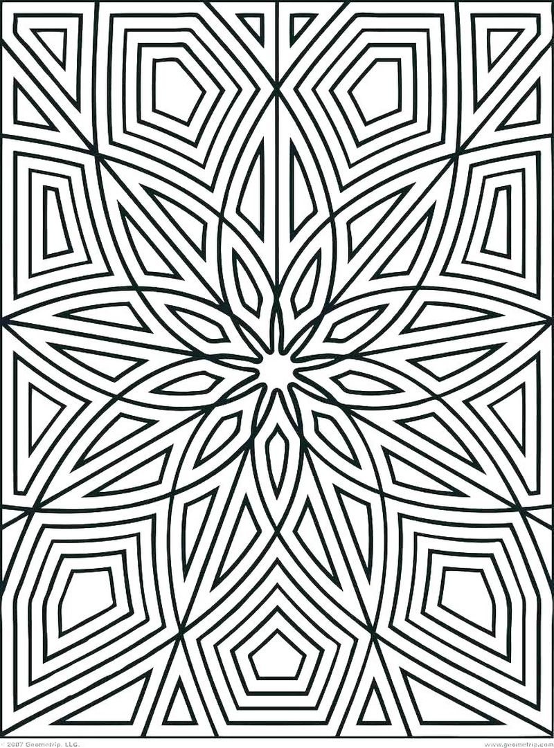 geometric coloring pages printable free