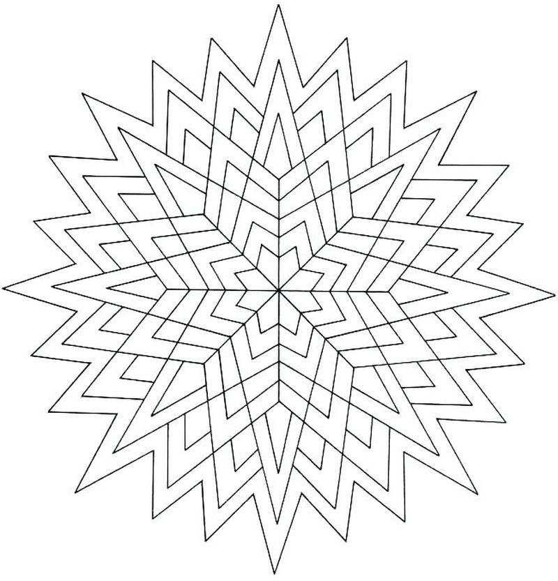 geometric coloring pages printable pdf