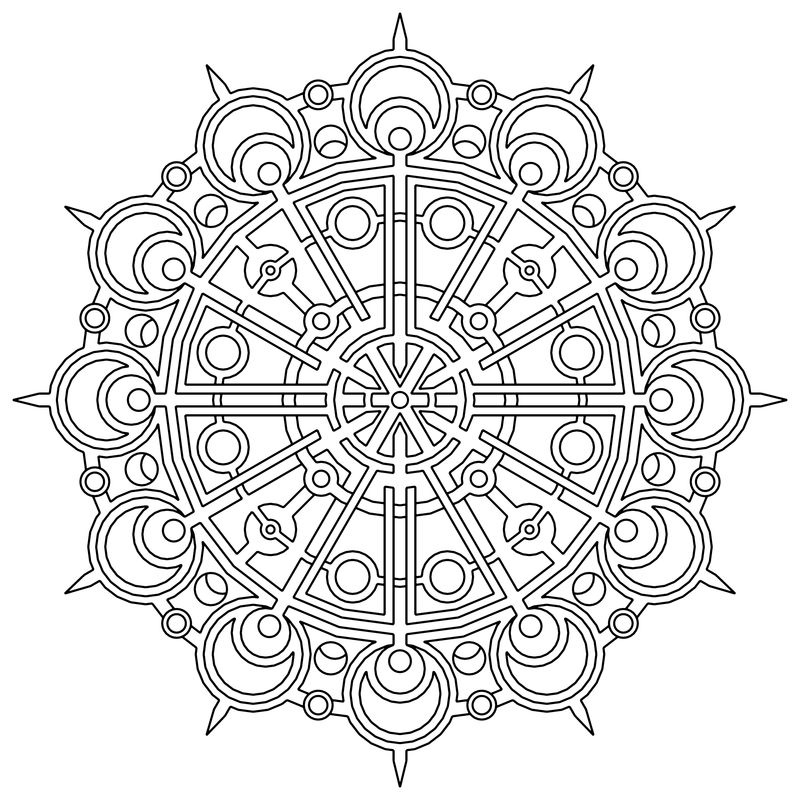 geometric colouring pages for adults printable
