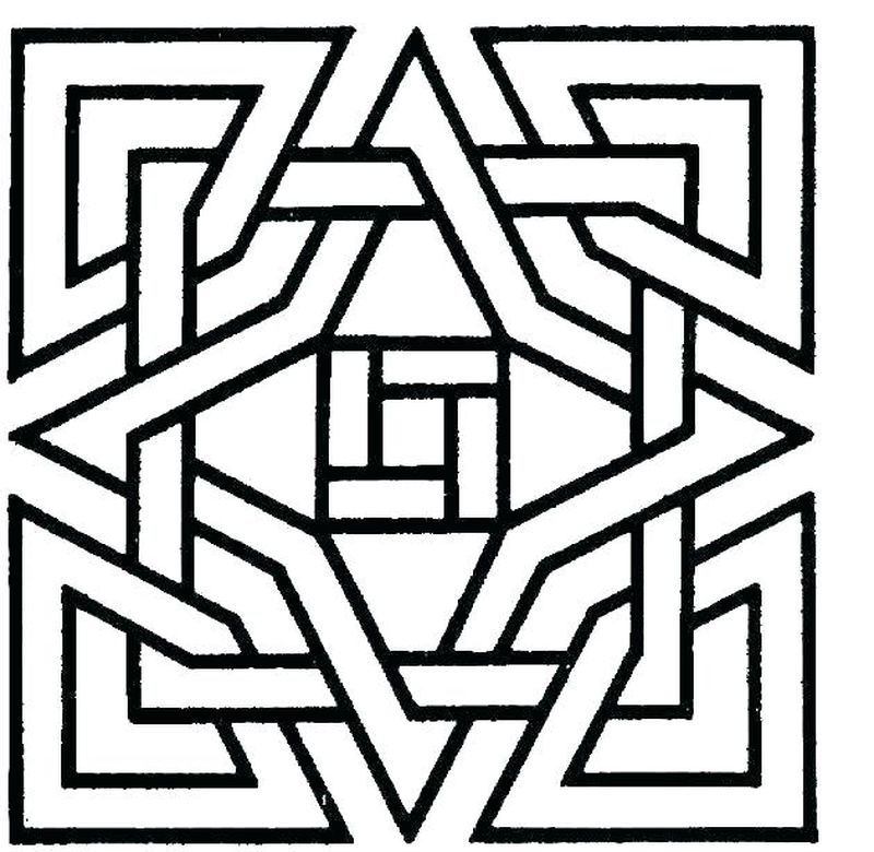 geometric colouring pages for adults