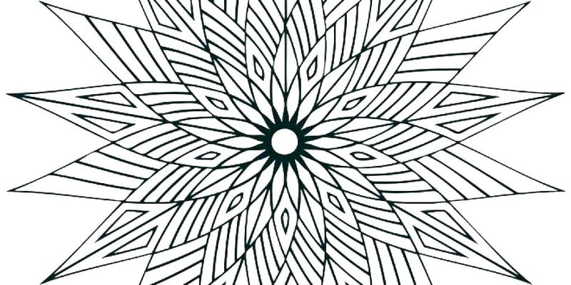 geometric colouring pages printable