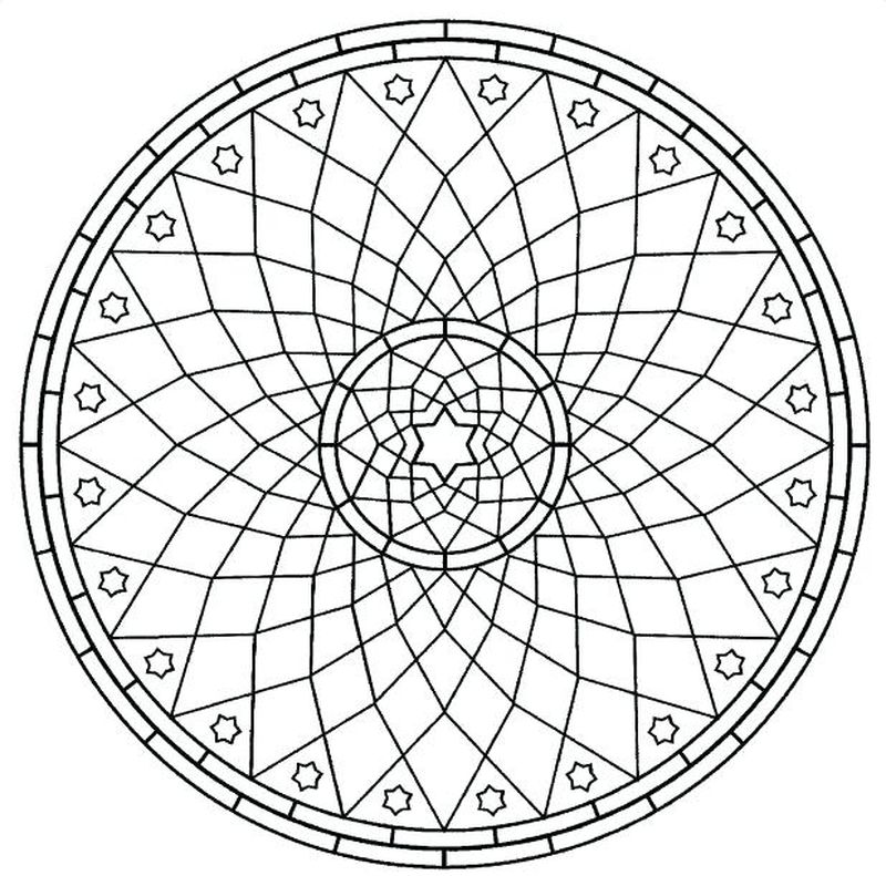 geometric design coloring pages pdf
