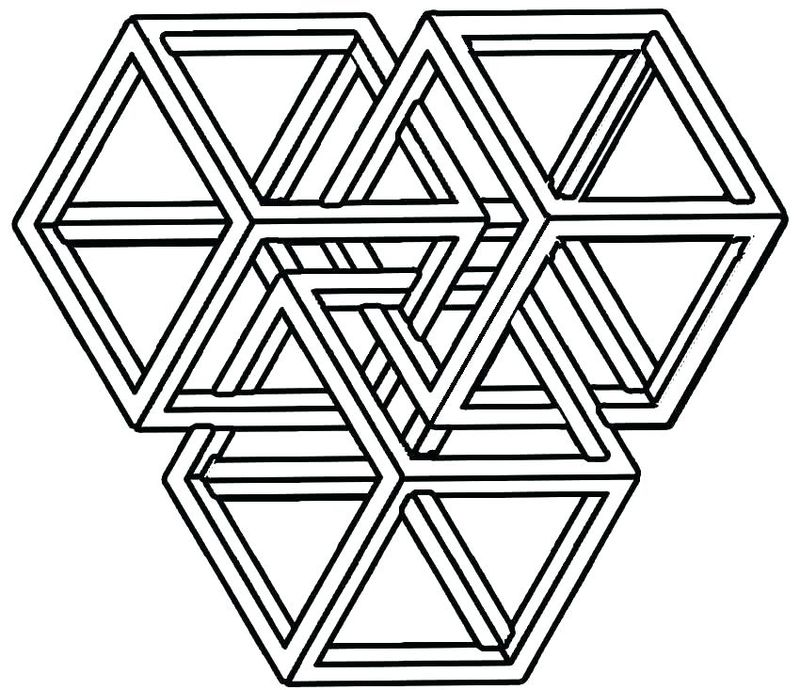 geometric lines coloring pages