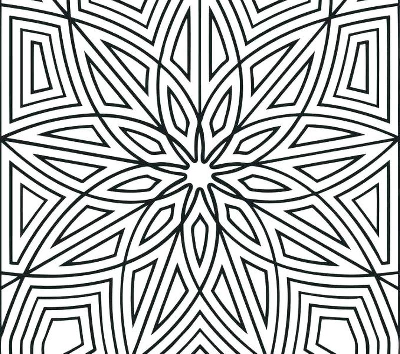geometric patterns coloring pages printable