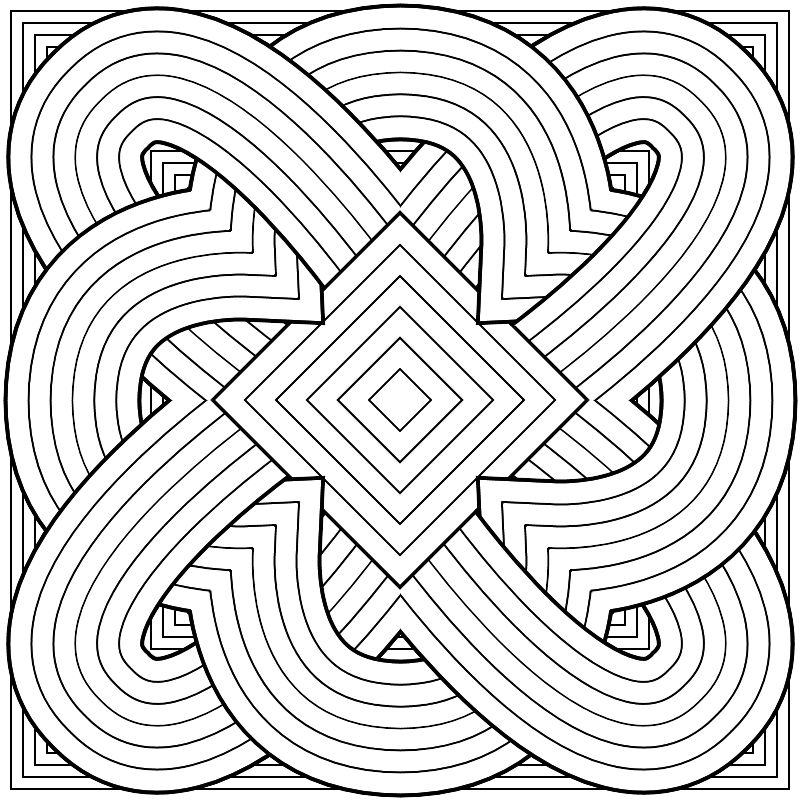 geometric shapes coloring pages for adults