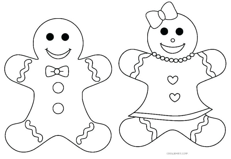 ginger man coloring pages