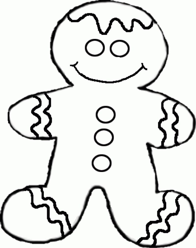 gingerbread man characters coloring pages