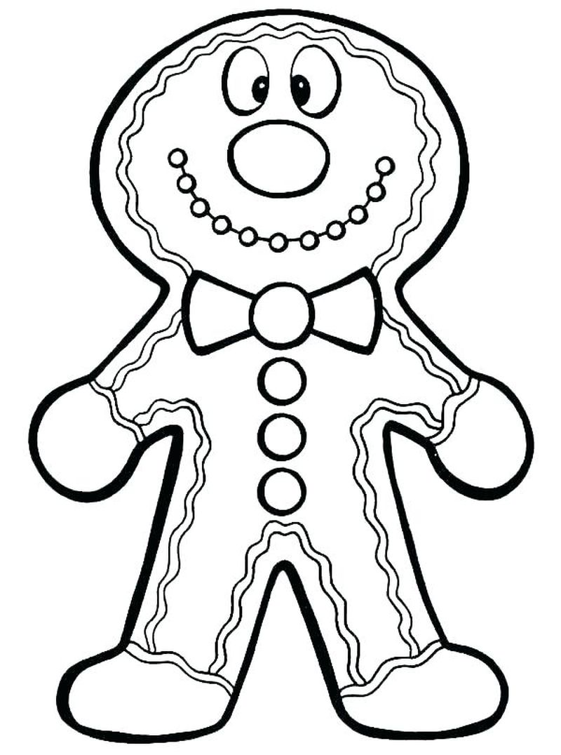 gingerbread man coloring pages for toddlers