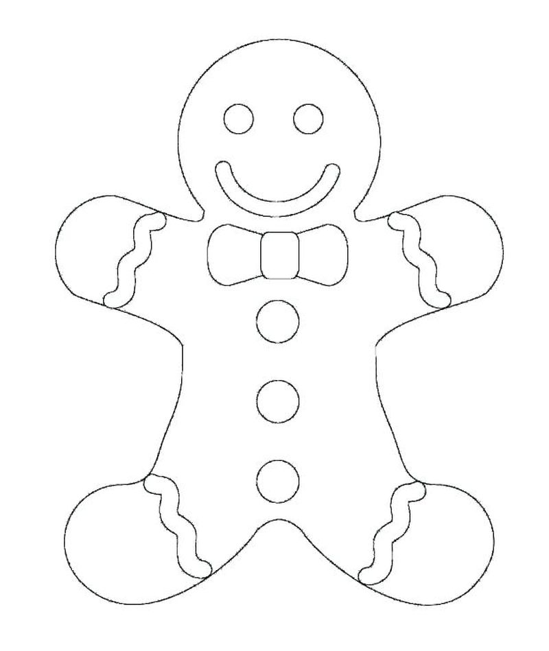 gingerbread man colouring pages printable