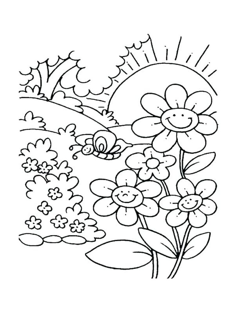 girl scout daisy flower garden coloring pages