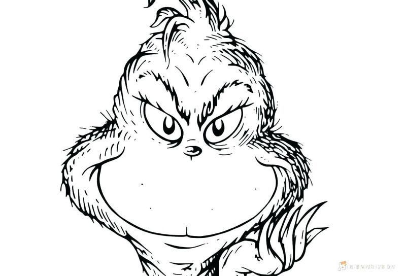 grinch coloring pages 2018