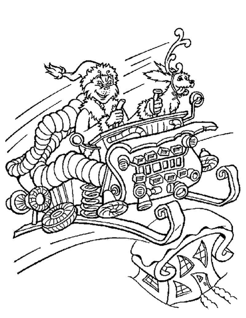 grinch coloring pages max