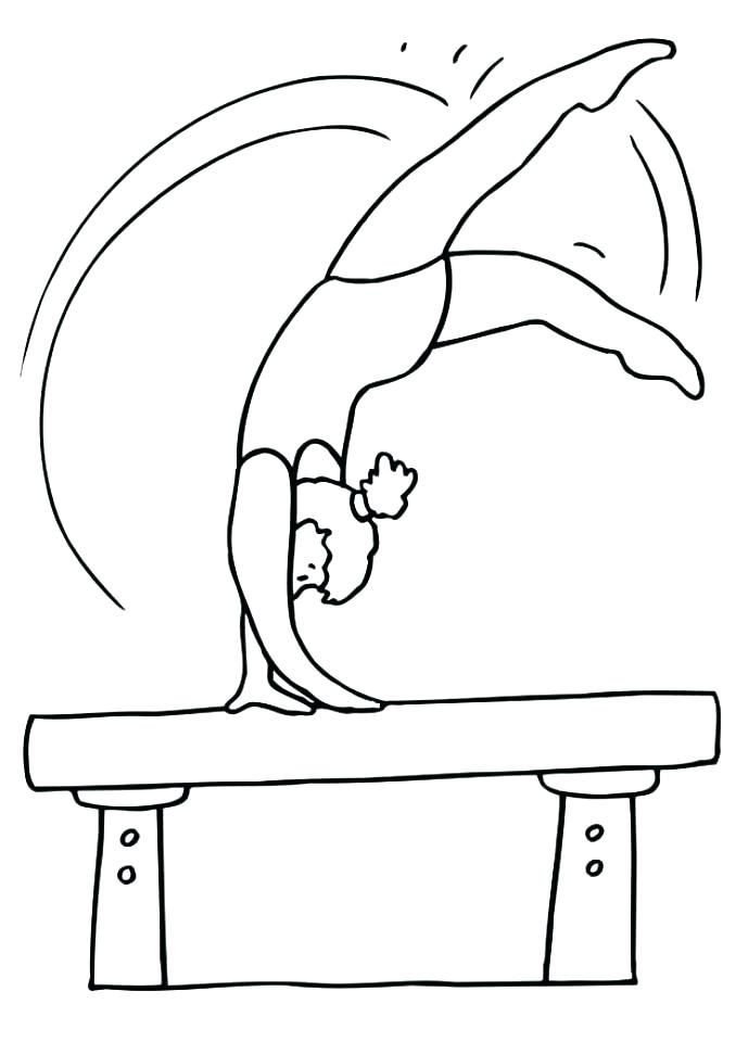 gymnastics colouring in pages