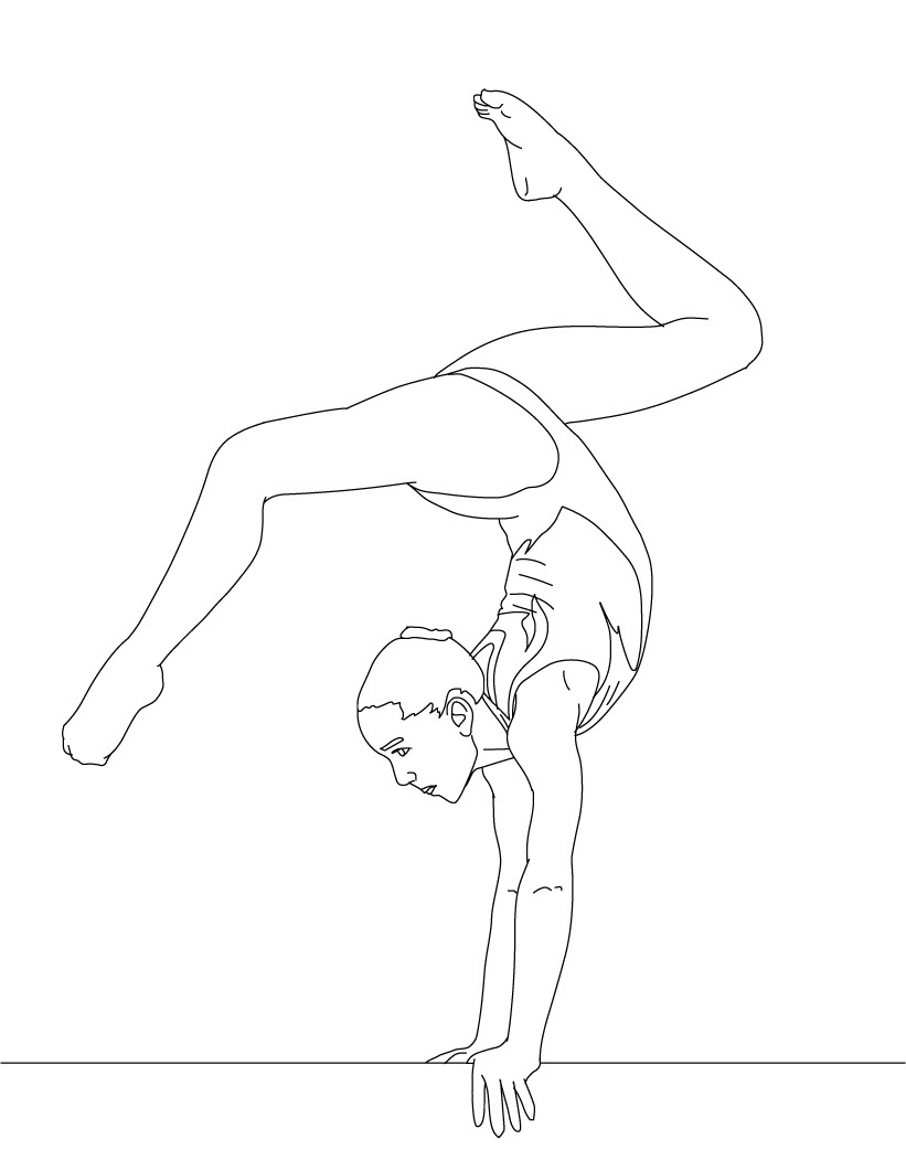 gymnastics colouring pages printable