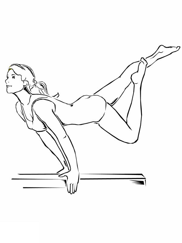 gymnastics colouring pages to print