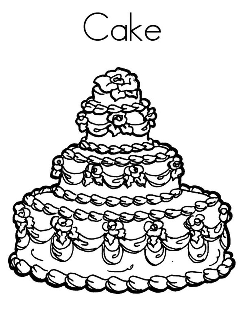 halloween cake coloring pages