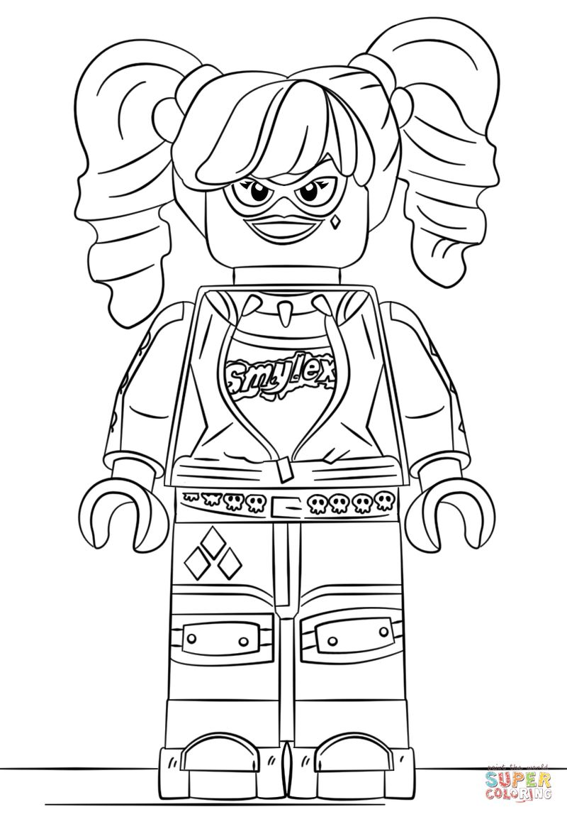 harley quinn and joker printable coloring pages