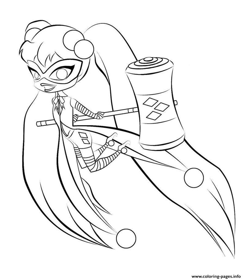 harley quinn coloring pages free