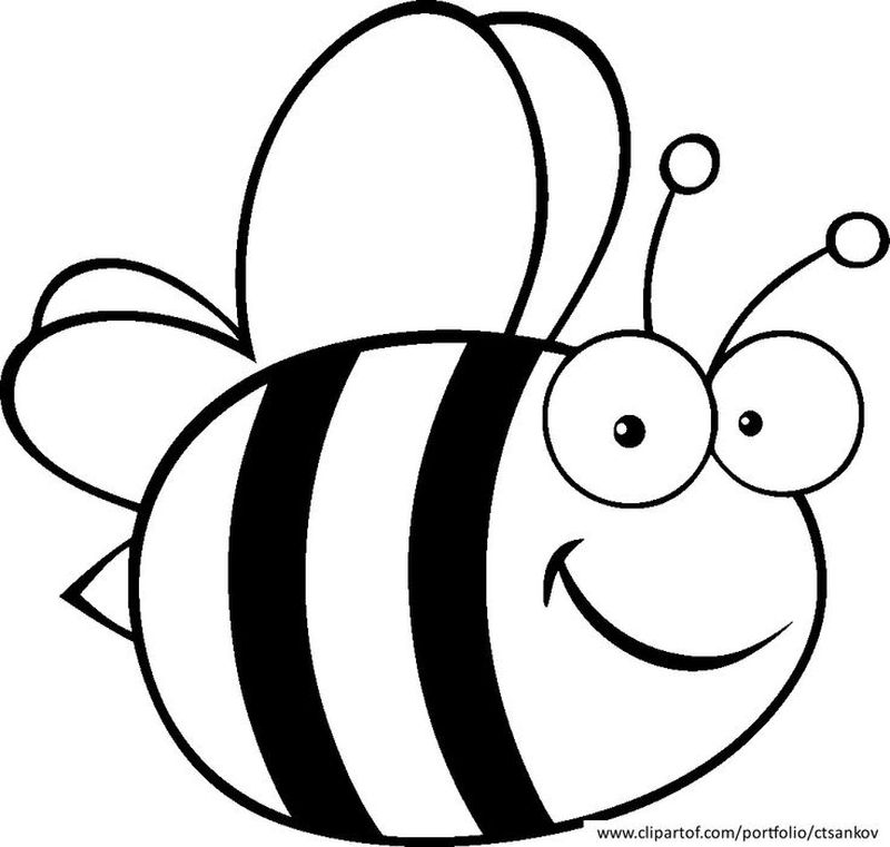 honey bee coloring pages printable