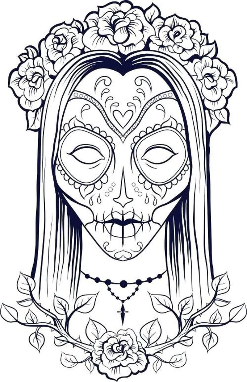 human skull coloring pages