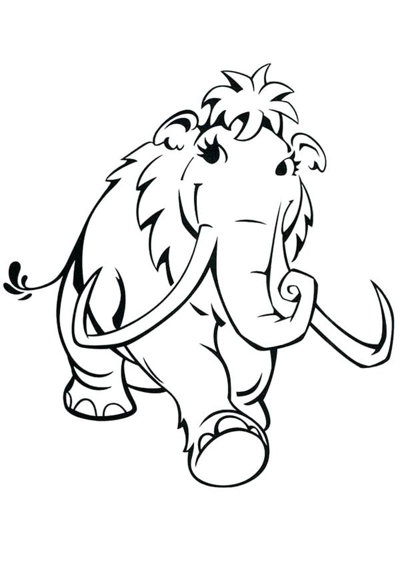 ice age characters coloring pages