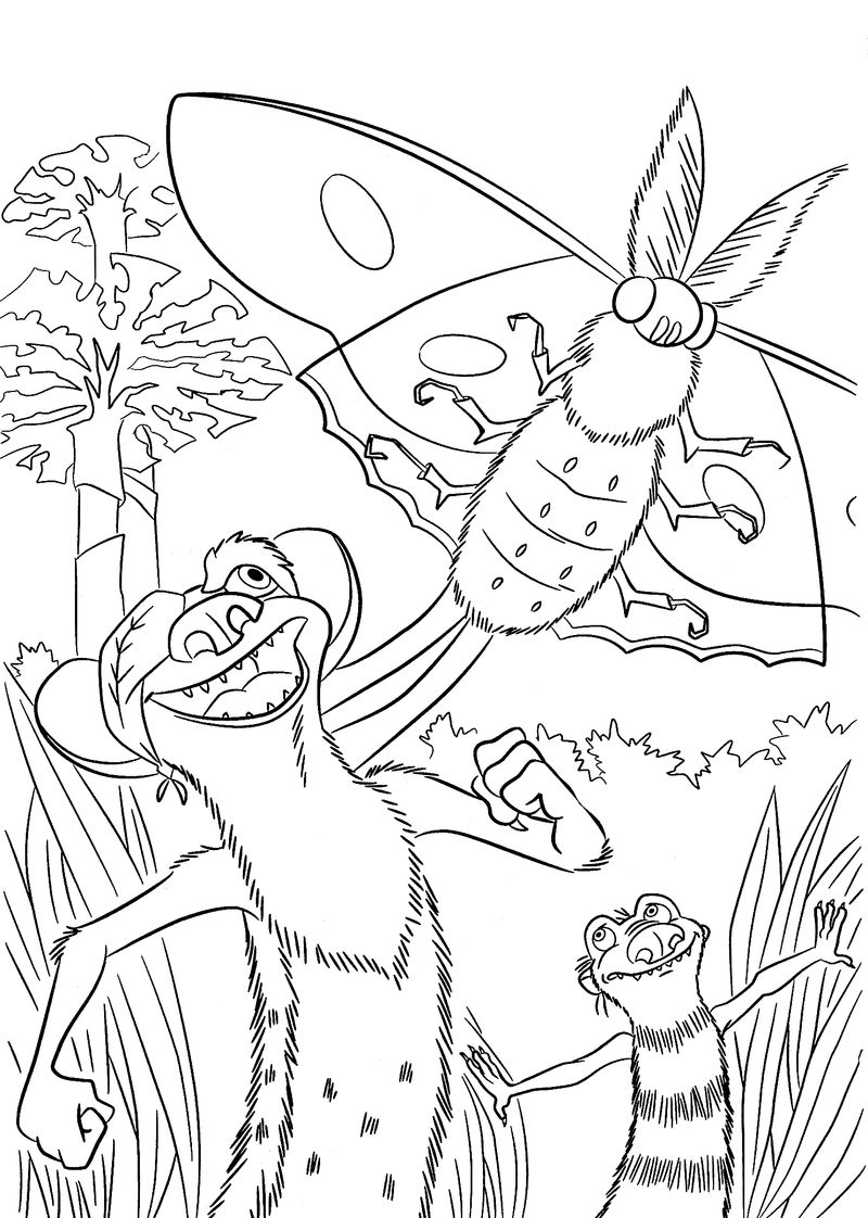 ice age coloring pages buck
