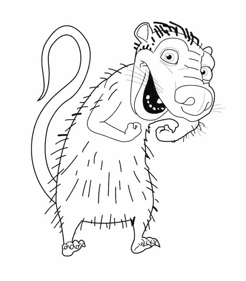 ice age coloring pages pdf