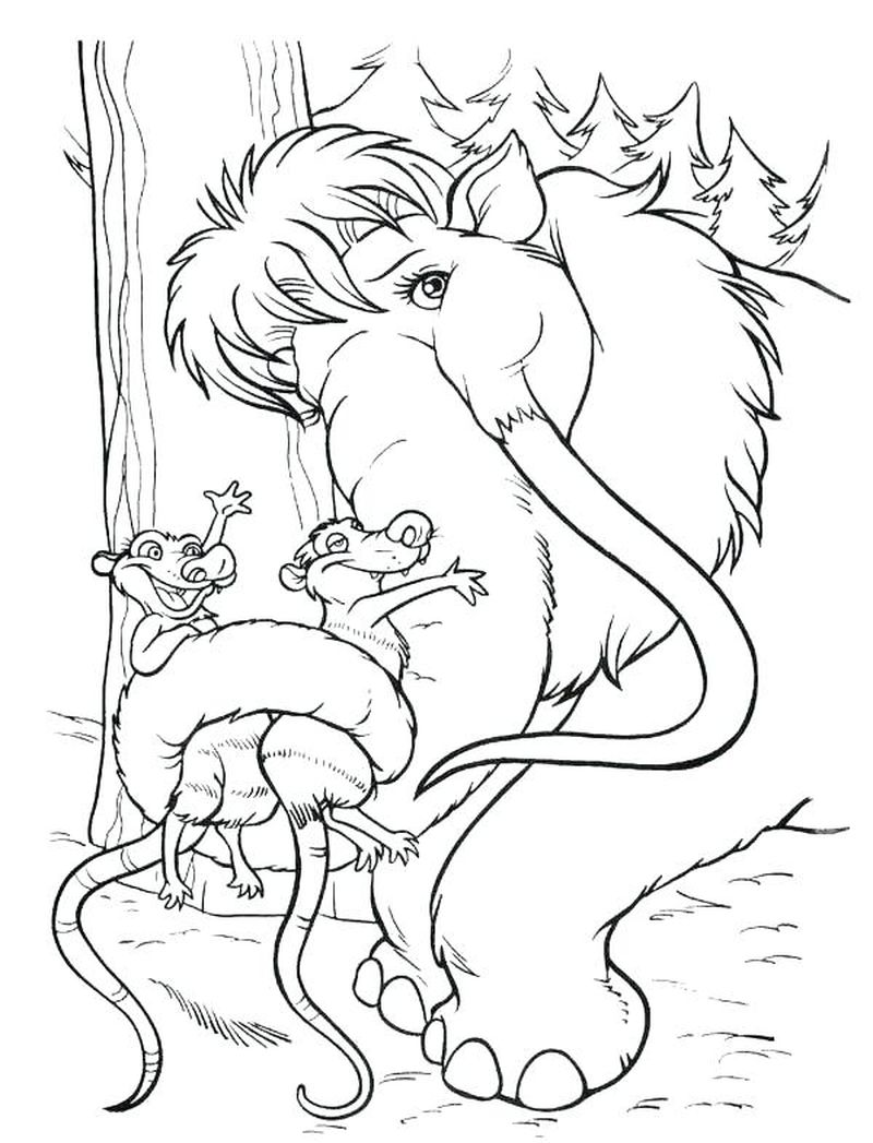 ice age coloring sheets