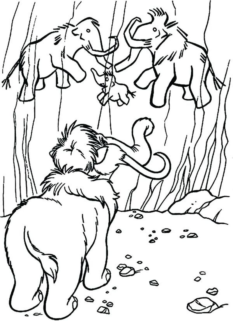 ice age dawn of the dinosaurs coloring pages