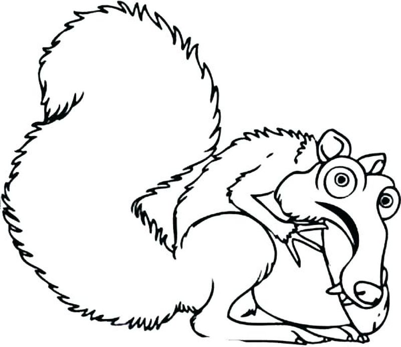 ice age movie coloring pages