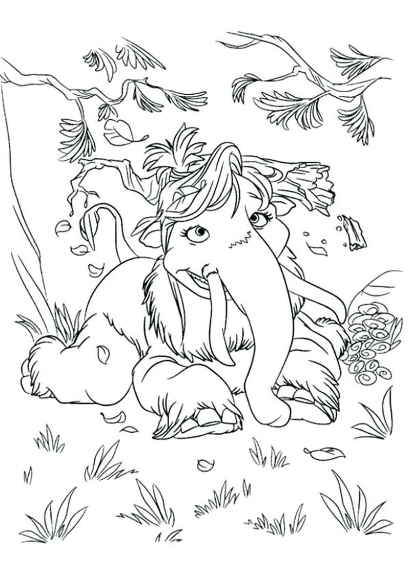 ice age shira coloring pages