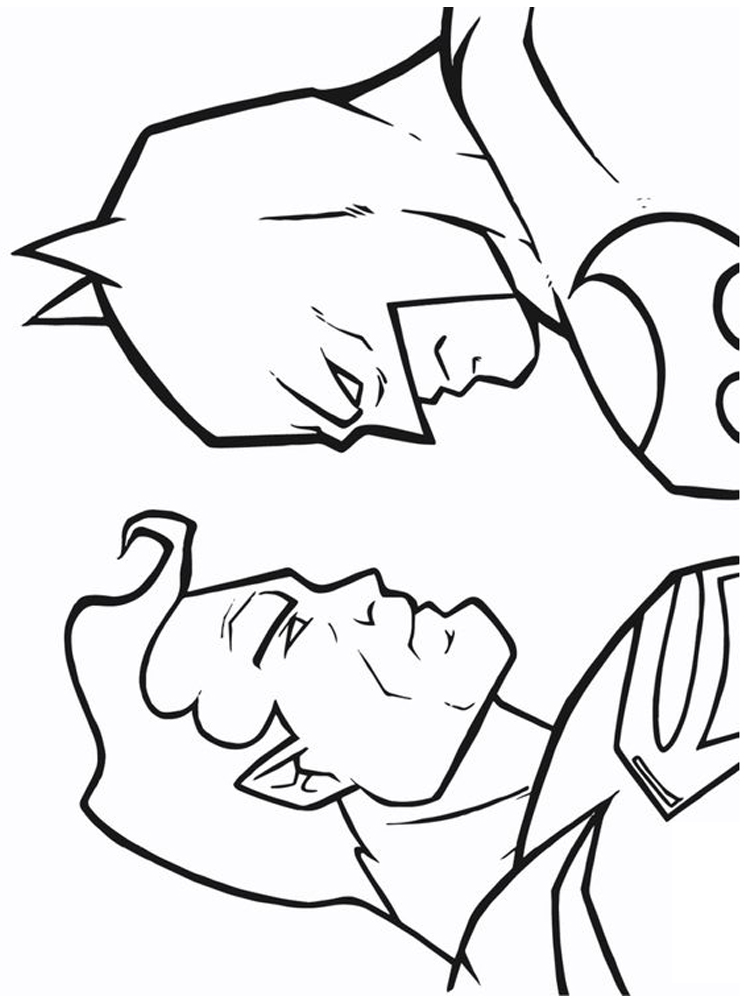 image dc coloring pages free