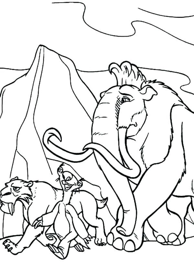 images of ice age coloring pages