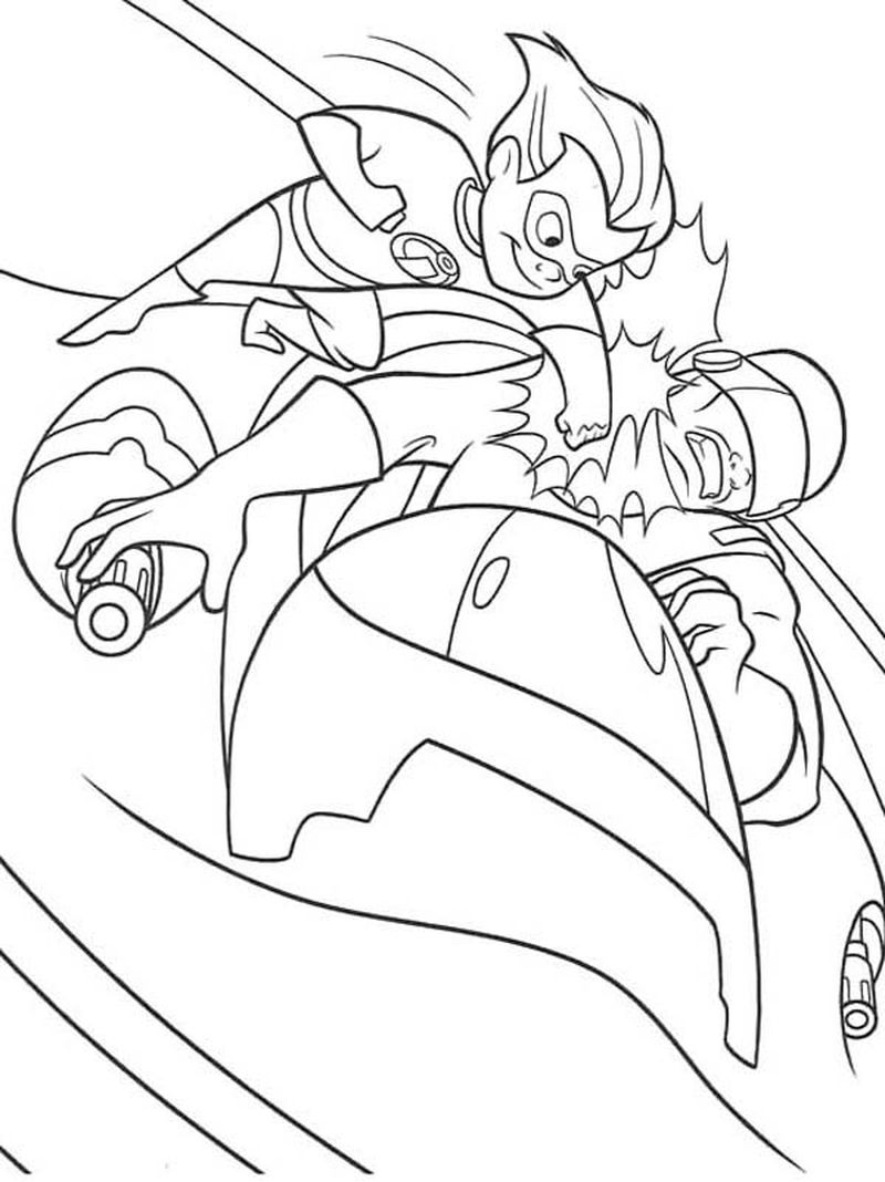 incredibles 2 lego coloring pages