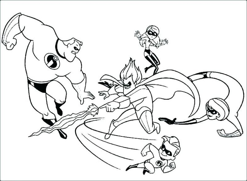incredibles cartoon coloring pages