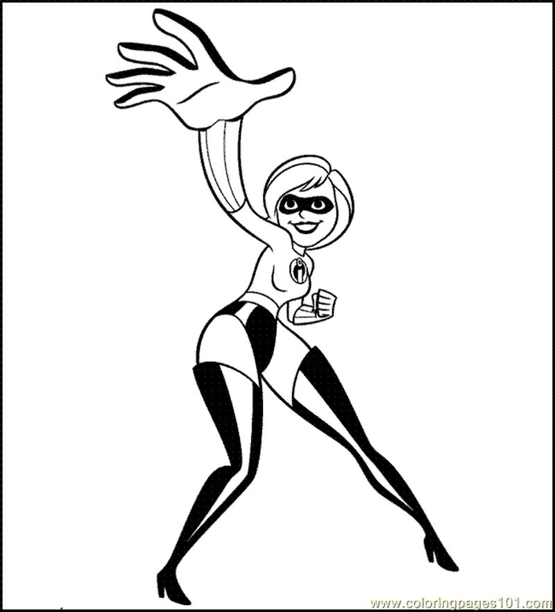 incredibles colouring pages pdf