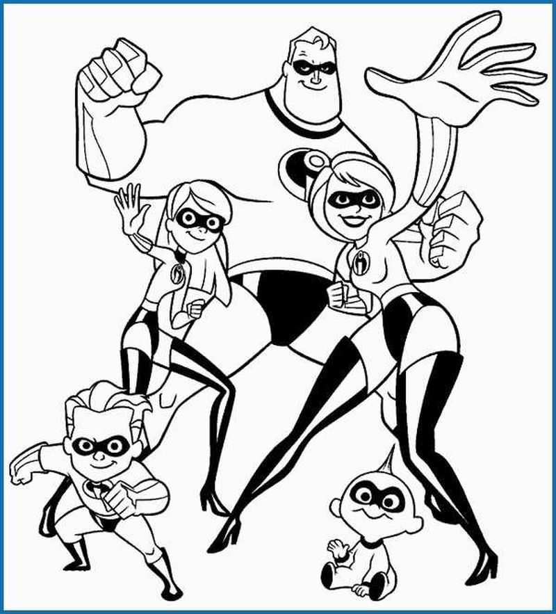 incredibles halloween coloring pages