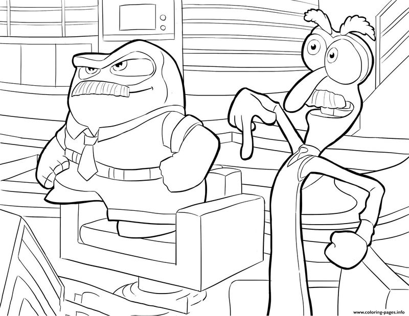 inside out emotions coloring pages