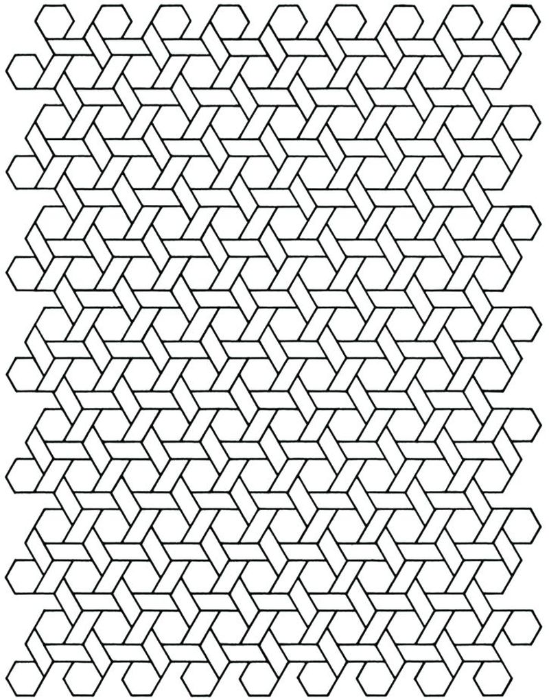 intricate geometric coloring pages