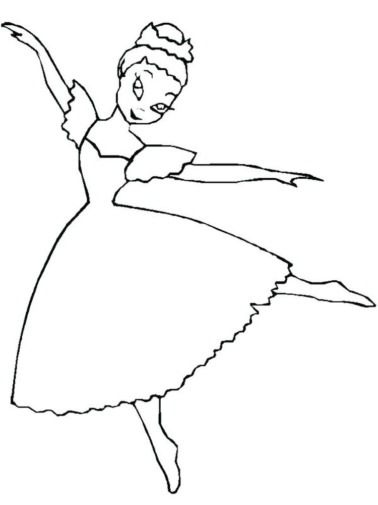 jazz dance coloring page printable