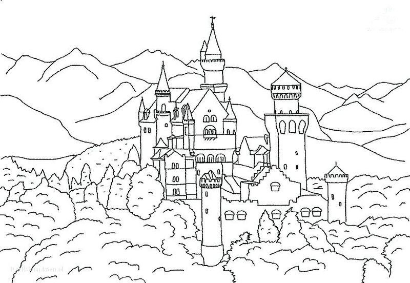 jumping castle coloring pages