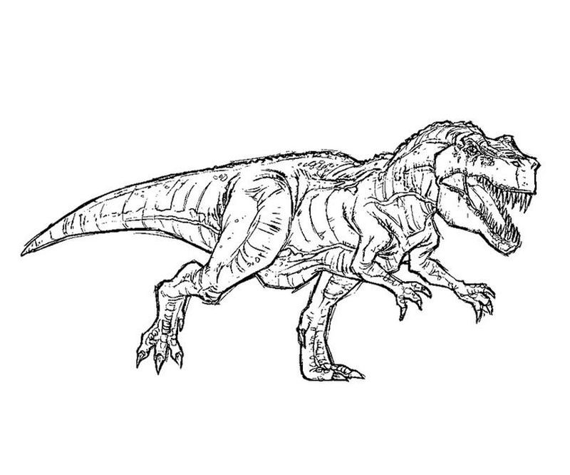 jurassic park world coloring pages