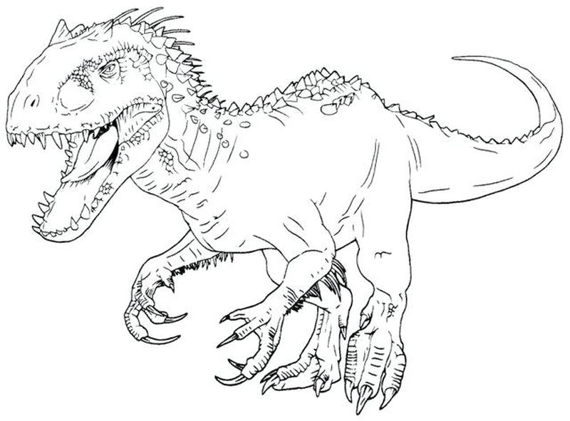 jurassic world alive coloring pages