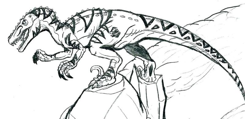 jurassic world coloring pages blue