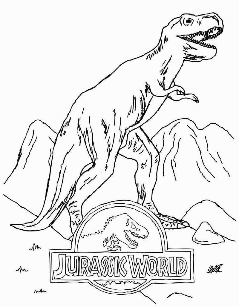 jurassic world dino coloring pages